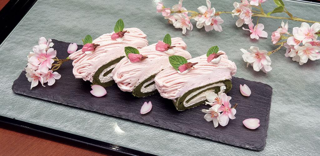 桜モンブランロール
